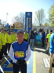 stephen at the boston marathon