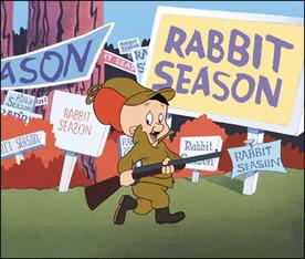 Bunny with a gun animation
