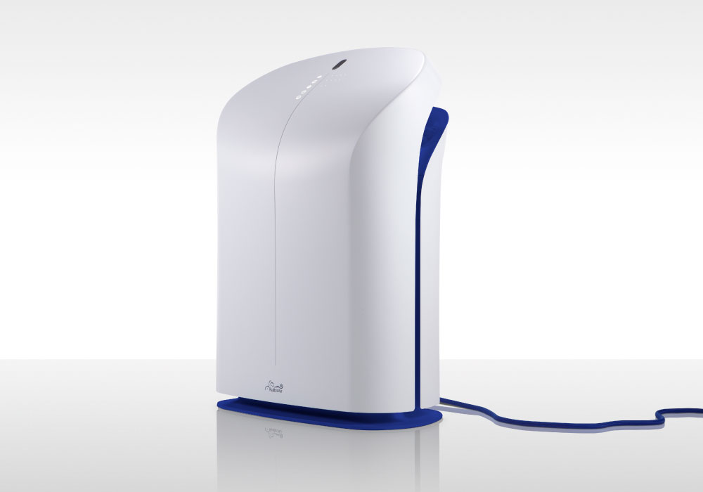 BioGS 2.0 Air Purifier Tone Royal side view