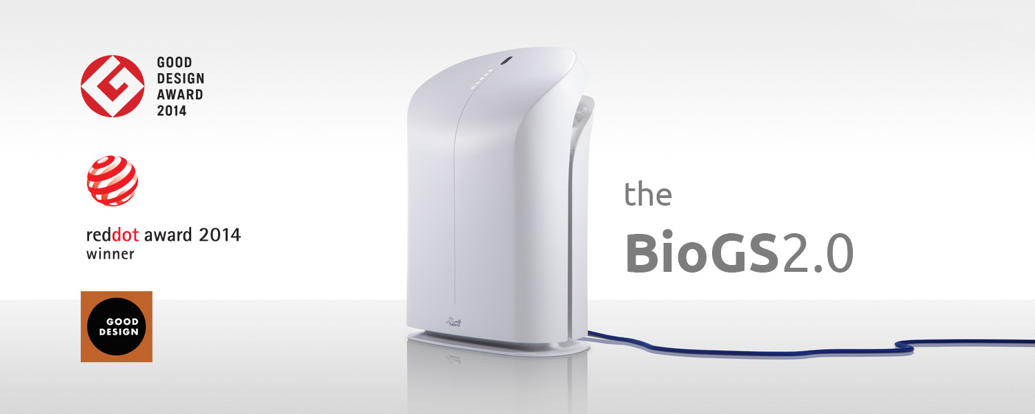 Award-winning BioGS 2.0 Air Purifier