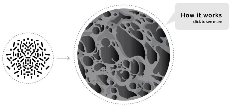 MinusA2 Activated Carbon Charcoal Filter closeup